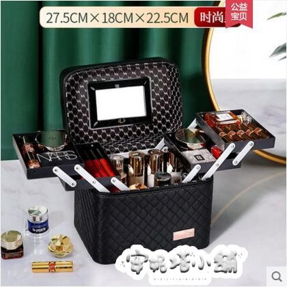 大容量化妝包女便攜多功能手提化妝品收納盒 ins風箱新款超火 夏季特惠