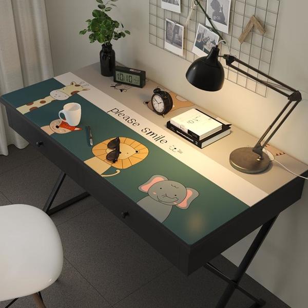 書桌墊兒童學習桌墊防水可愛防油桌面墊子宿舍電腦墊卡通寫字桌布 「夢幻小鎮」