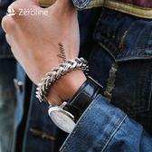 手鍊 歐美潮人鏈條手鏈男士嘻哈霸氣單雙粗鏈子手環時尚簡約鈦鋼手飾品 生日禮物
