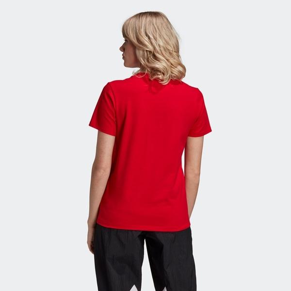 Adidas Trefoil Tee 女裝 短袖 慢跑 休閒 大三葉草 羅紋圓領 棉質 紅【運動世界】GI7061