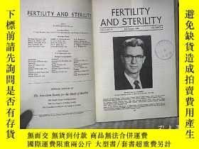 二手書博民逛書店FERTILITY罕見AND STERILITY 1964 VO