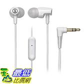 [美國直購] Audio-Technica 入耳式耳機 ATH-CLR100iSWH SonicFuel In-Ear Headphones Microphone & Control, White