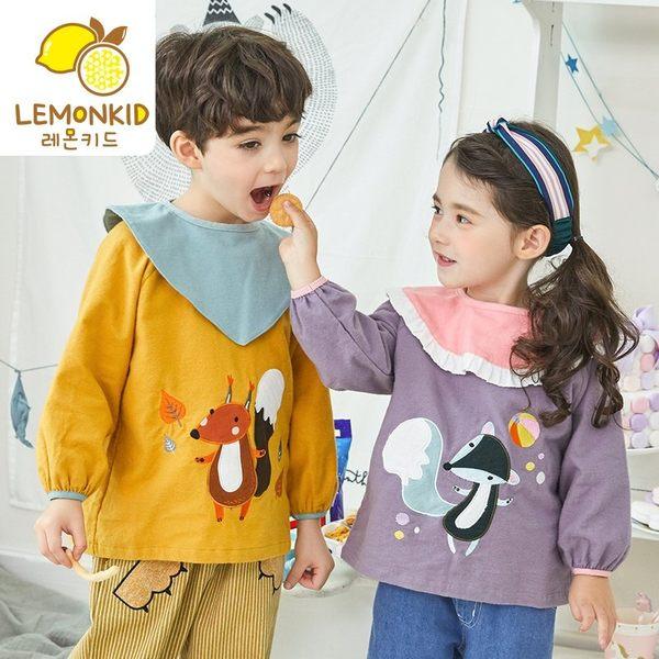 反穿衣防水環保雙用兒童畫畫罩衣棉外套
