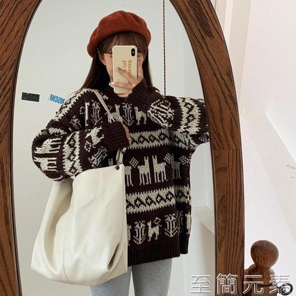網紅單肩大包包女韓版秋冬新款百搭大容量軟面斜背包時尚托特包潮 至簡元素