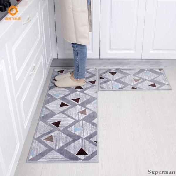 地毯 地墊 - 長條地毯耐臟防油家用防滑墊陽臺吸水防滑墊 兩片 【快速出貨好康八折】