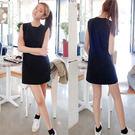洋裝 韓版 半身背心長款修身顯瘦連衣裙 小禮服