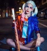 cosplay服裝女 自殺小隊小醜女cosplay服哈莉奎茵假發手套全套服裝小醜女cos服  夏沫之戀