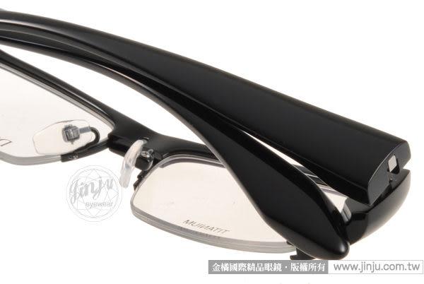 【金橘眼鏡】Dress Code半框眼鏡#DC22233 BK2 粗框黑- 歐日品味 (免運)