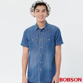 【BOBSON】男款天絲棉牛仔襯衫(28003-53)