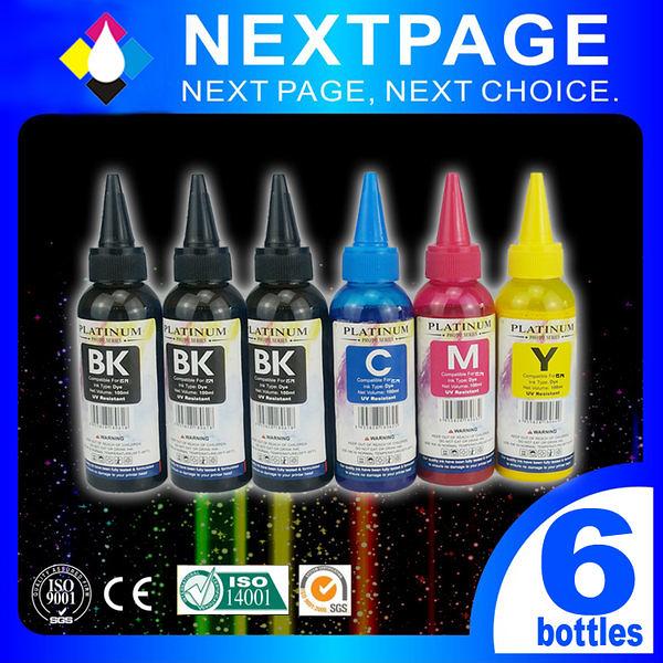 【台灣榮工/NEXTPAGE】EPSON 全系列 Dye Ink 3黑3彩 BK 黑/C 藍/M 紅/Y 黃 可填充 染料 墨水/墨水瓶 100ml