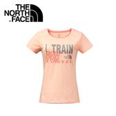 【The North Face 女 Logo短T《橘粉》】2XUY/吸濕排汗/透氣/運動/戶外/休閒上衣