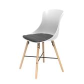 (組)特力屋萊特塑鋼椅-櫸木腳架30mm+白椅背+灰座墊