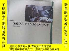 二手書博民逛書店SALES罕見MANAGEMENTY253683 。 。