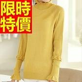 毛衣高領氣質精美-羊毛韓版禦寒長袖女針織衫6色63aa49【巴黎精品】
