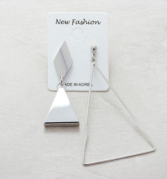 正韓個性時尚三角垂耳耳環夏綠蒂didi-shop