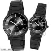 【台南 時代鐘錶 SIGMA】簡約時尚 藍寶石鏡面情人對錶 1122M-B01 1122LB01 深灰/黑鋼 平價實惠好選擇