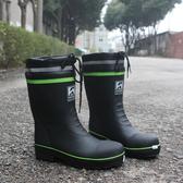 短雨鞋男士中筒防滑防水