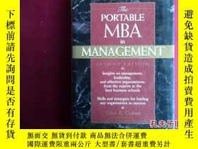 二手書博民逛書店THE罕見PORTABLE MBA IN MANAGEMENTY