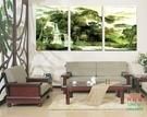 【優樂】無框畫裝飾畫客廳沙發背景掛畫壁畫三聯畫水墨畫山水風景
