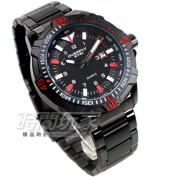 EYKI艾奇 個性型男 時尚腕錶 男錶 運動錶 軍錶 學生錶 防水手錶 IP黑x紅 日期顯示窗 03055L黑紅