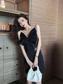 小禮服2020年夏季新款時尚吊帶蝴蝶結性感氣質禮服修身收腰顯瘦連身裙女 衣間迷你屋