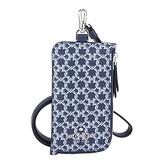KATE SPADE 印花防刮皮革拉鍊卡夾證件夾套(藍/多色)