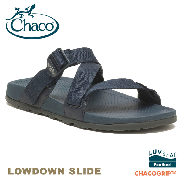 【CHACO 美國 男 LOWDOWN SLIDE休閒拖鞋《海軍藍》】CH-LSM01HH16/休閒涼鞋