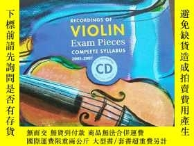 二手書博民逛書店Violin罕見Exam Recordings 2005-200