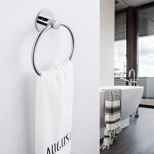 衛生間掛毛巾架免打孔廚房毛巾環抹布架吸盤式浴室毛巾桿YXS 韓小姐