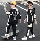 男童套裝 秋裝套裝潮帥氣時髦2021新款中大童男孩工裝三件套加厚兒童裝【快速出貨八折優惠】
