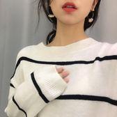 復古小圓片亞克力耳環韓國氣質百搭圓形鏤空耳釘耳飾 黛尼時尚精品