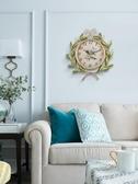 美式北歐創意夜光靜音石英掛鐘鐘現代簡約客廳家庭時鐘裝飾臥室