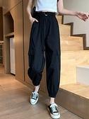 哈倫褲 寬鬆褲子秋裝年工裝褲女顯瘦高腰束腳褲休閒褲百搭哈倫褲  芊墨左岸 上新