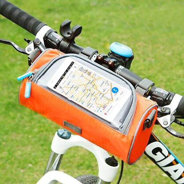 【BlueCat】單車族最愛!大圓筒手機透視窗可裝單車包/側背包