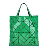 【南紡購物中心】ISSEY MIYAKE 三宅一生 BAOBAO 6x6亮面手提包-綠