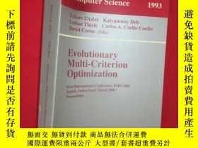 二手書博民逛書店Evolutionary罕見Multi-Criterion Op