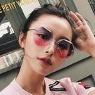 2018新款多邊形太陽鏡女個性沙灘墨鏡漸...