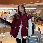 棒球夾克外套 新款秋冬季棉衣棉服毛呢外套女 韓版學生加厚寬松棒球服ins潮