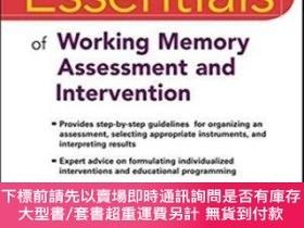 二手書博民逛書店Essentials罕見Of Working Memory Assessment And Intervention