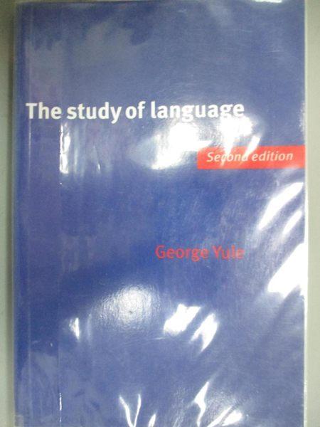 【書寶二手書T1/語言學習_QKR】The Study of Language_Yule
