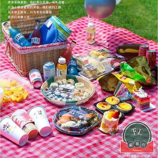 野餐墊子便攜防水加厚日式野餐布戶外防潮墊【福喜行】