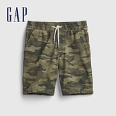 Gap男童 柔軟舒適仿牛仔布短褲 682041-綠色迷彩