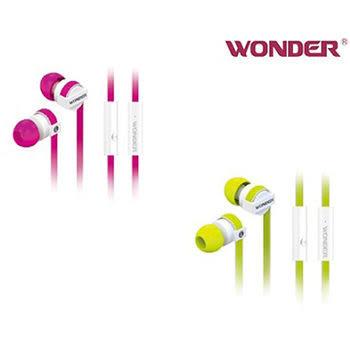 免運費 WONDER立體聲入耳式(防拉扯)耳機WA-E08M