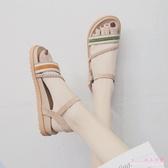 大碼涼鞋潮2020新款夏季時尚學生百搭夏季仙女風平底鞋子 LF3903【Rose中大尺碼】