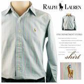 ~大盤大~Ralph Lauren 男S 號直條紋襯衫  專櫃 父親節送禮無口袋鈕扣式棉衫