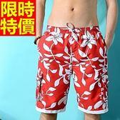 海灘褲-衝浪防水戲水精緻個性自信男女短褲子(單件)2色54q2[時尚巴黎]