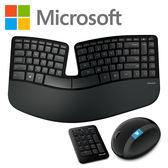 [哈GAME族]免運費 可刷卡 微軟 Microsoft Sculpt Ergonomic Desktop 人體工學鍵鼠組 四向滾軸 可拆支撐墊
