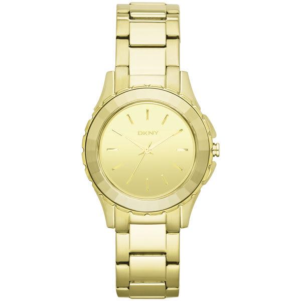 DKNY 百老匯女時尚都會腕錶(鏡面金)