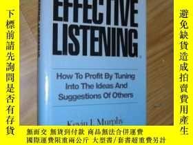 二手書博民逛書店英文原版罕見Effective Listening by Kev