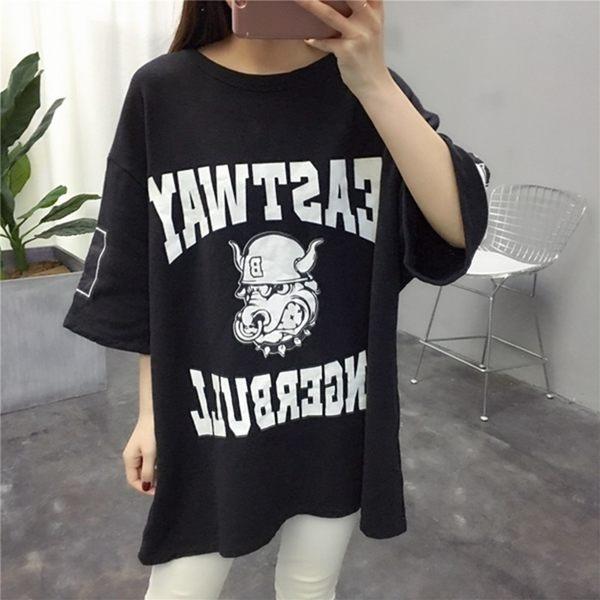 (全館免運) - 寬鬆oversize短袖t恤 - T-0877
